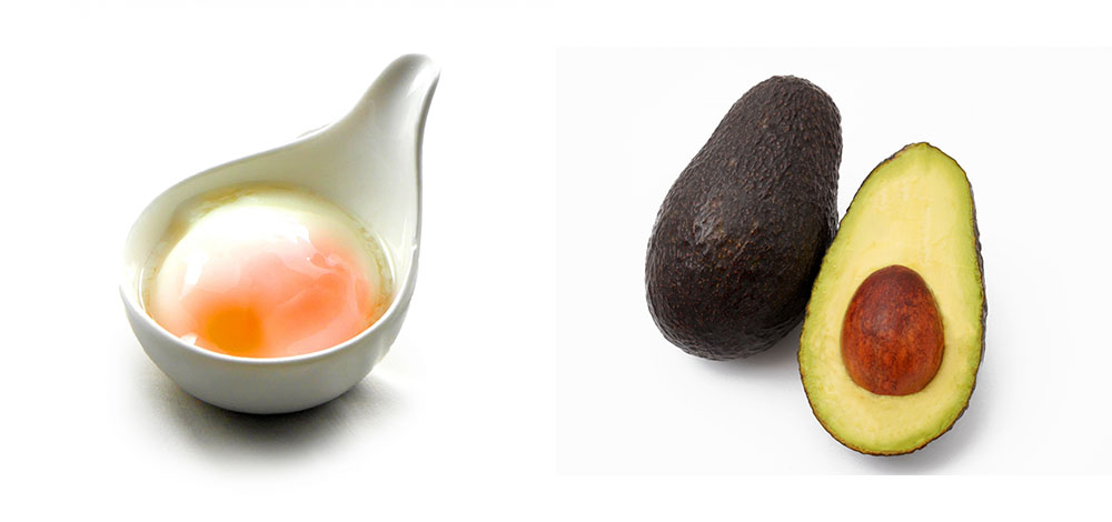 アボカドと温泉卵