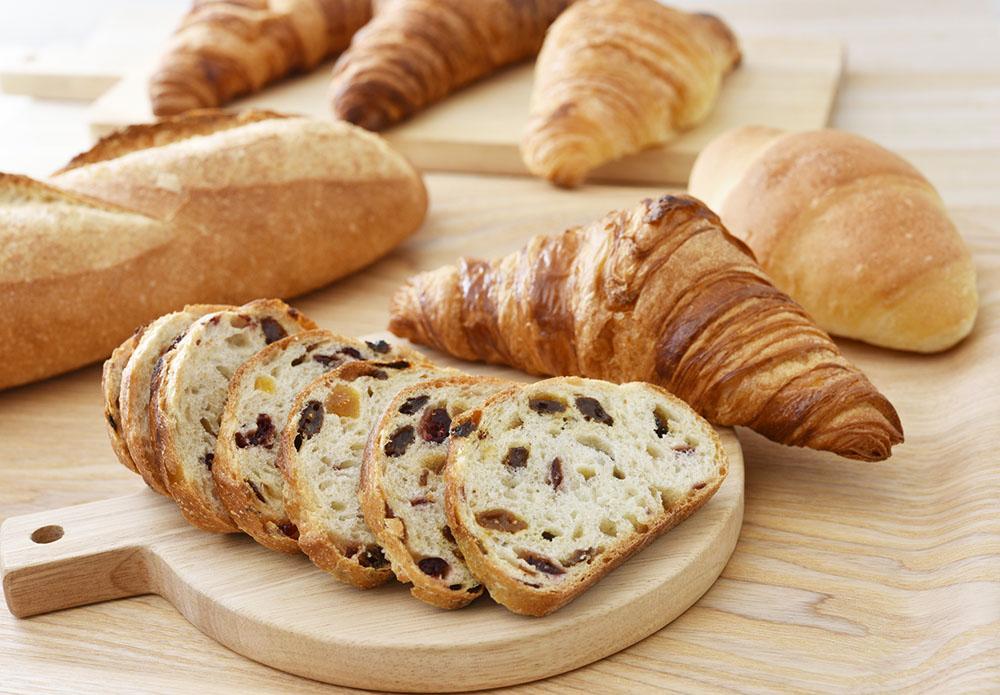 小麦でできているパン